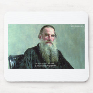 """Leo Tolstoy """"Know Nothing"""" Quote GIfts Tees Cards Mouse Pads"""