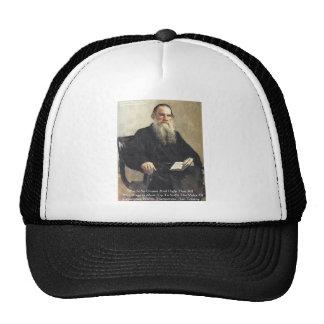 """Leo Tolstoy """"War Is Unjust"""" Wisdom Quote Gifts Trucker Hat"""