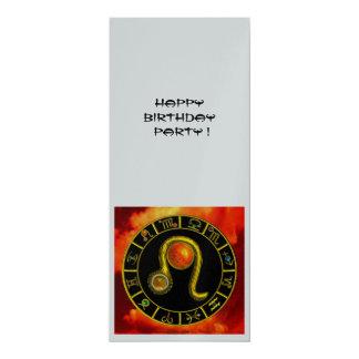 LEO TOPAZ ,  bright yellow red orange silver Card