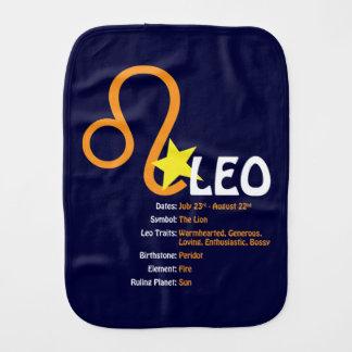 Leo Traits Baby Burp Cloth