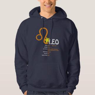 Leo Traits Dark Hooded Sweatshirt