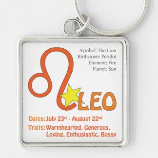 Leo Traits Square Keychain