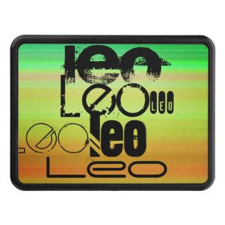 Leo; Verde vibrante, naranja, y amarillo Tapa De Remolque
