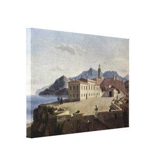 Leo von Klenze - Napoleon in Portoferraio Stretched Canvas Prints