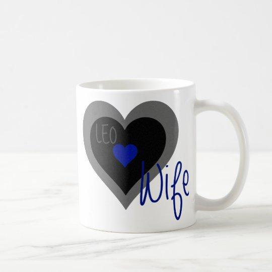 LEO Wife Heart Coffee Mug