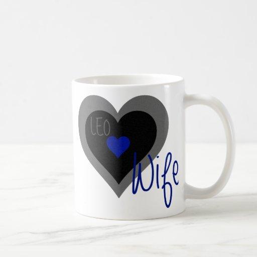 LEO Wife Heart Coffee Mugs