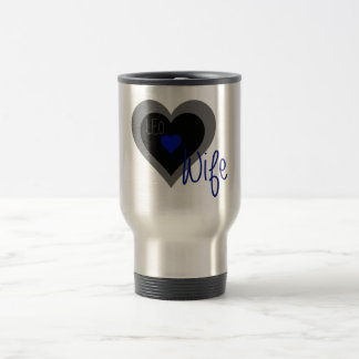 LEO Wife Heart 15 Oz Stainless Steel Travel Mug