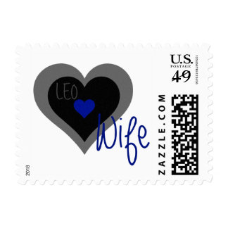 LEO Wife Heart Postage