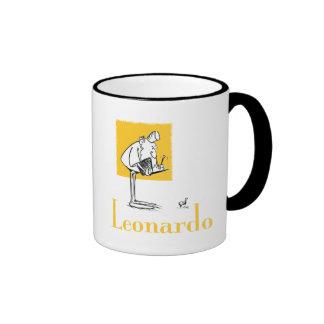 leo writing mug