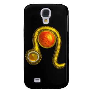 LEO , Yellow Topaz and Gold Samsung Galaxy S4 Cover