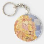 Leo Zodiac Basic Round Button Keychain