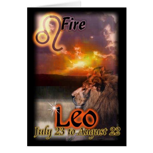 Leo Zodiac Birthday Card