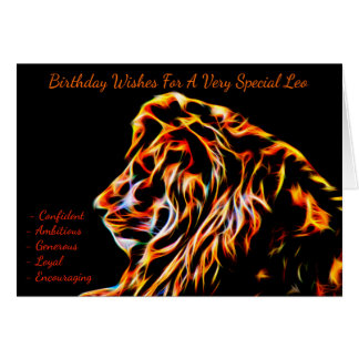 Leo Zodiac Birthday Greeting Card