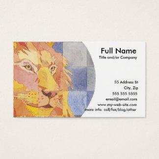 Leo Zodiac Business Card