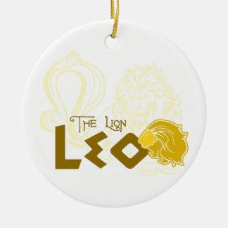Leo Zodiac design Ceramic Ornament