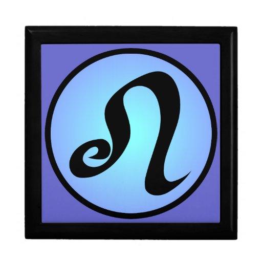 Leo Zodiac Dreamy Blues Gift Box
