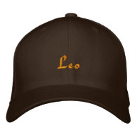 Leo Zodiac Embroidered Cap / Hat Embroidered Hat