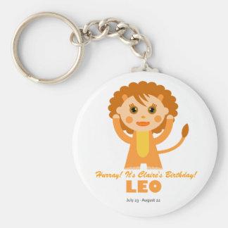 Leo Zodiac for Kids Basic Round Button Keychain