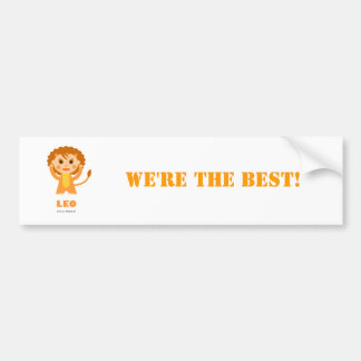 Leo Zodiac for Kids Bumper Sticker