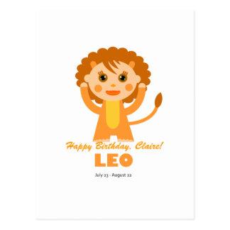 Leo Zodiac for Kids Postcard