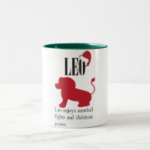 Leo Zodiac Holiday Coffee Mug