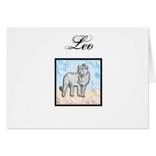 Leo Zodiac Items Card