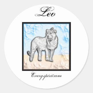 Leo Zodiac Items Classic Round Sticker