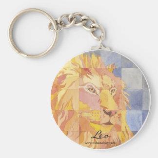Leo Zodiac Keychain