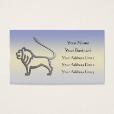 Leo Zodiac Lion Star Sign In Light Silver Bookmark Business Card at Zazzle