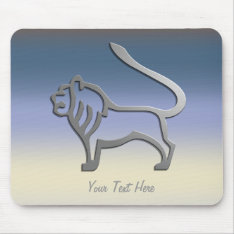 Leo Zodiac Lion Star Sign In Light Silver Mousemat Mouse Pad at Zazzle