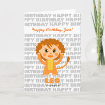Leo Zodiac Sign Birthday Card