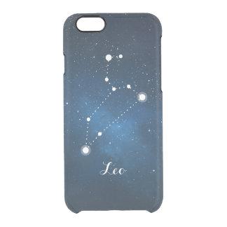 Leo Zodiac Sign Blue Nebula Clear iPhone 6/6S Case