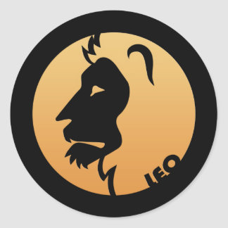 Leo Zodiac Sign Classic Round Sticker