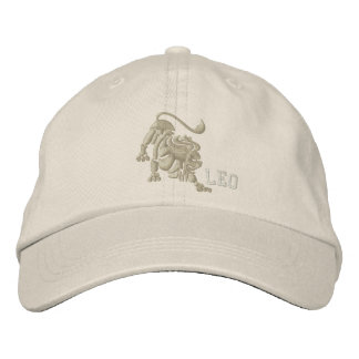 Leo Zodiac Sign Embroidery July 23 - August 22 Embroidered Baseball Cap