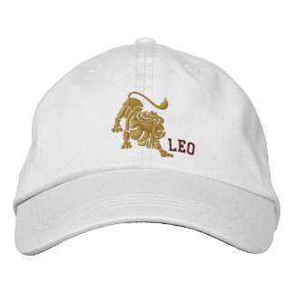 Leo Zodiac Sign Embroidery July 23 - August 22 Embroidered Baseball Hat