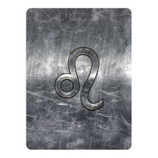 Leo Zodiac Sign in Grunge Distressed Style Card
