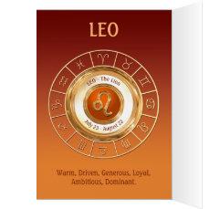 LEO Zodiac Sign Personality Traits Card