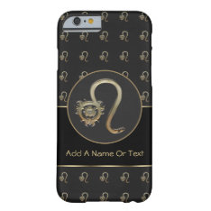 Leo Zodiac Sign Personalized Barely There iPhone 6 Case at Zazzle
