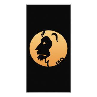 Leo Zodiac Sign Photo Greeting Card