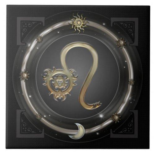 Leo Zodiac Sign tile