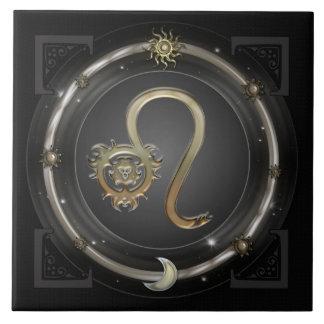 Leo Zodiac Sign Large Square Tile