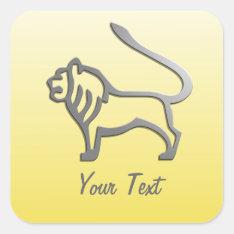 Leo Zodiac Star Sign In Light Silver Square Sticker at Zazzle