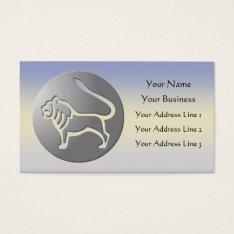Leo Zodiac Star Sign Silver Premium Business Card at Zazzle