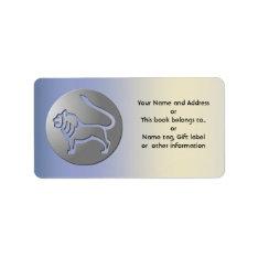 Leo Zodiac Star Sign Silver Premium Label at Zazzle