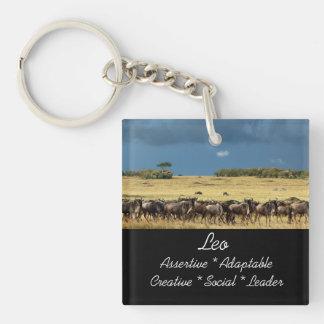 Leo zodiac star sign Single-Sided square acrylic keychain