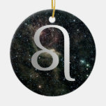 Leo Zodiac Star Sign Universe Birthday Christmas Ceramic Ornament