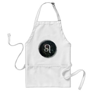 Leo Zodiac Star Sign Universe Crafts Cook Chef Adult Apron
