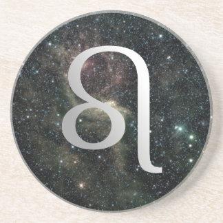 Leo Zodiac Star Sign Universe Drink Coaster