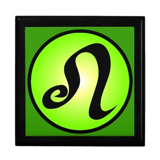 Leo Zodiac Sunny Green Gift Box