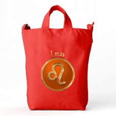 Leo Zodiac Symbol Duck Bag